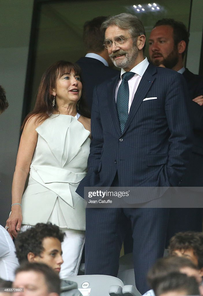 President of French League Frederic Thiriez attends the French Ligue 1 match between Lille OSC (LOSC) and Paris Saint-Germain (PSG) at Grand Stade Pierre Mauroy on August 7, 2015 in Lille, France.