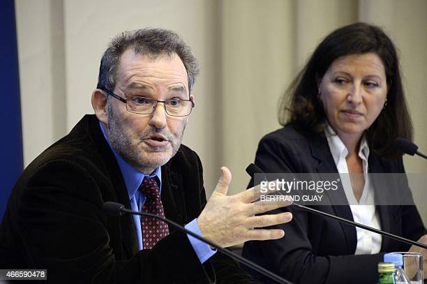 President of French National Cancer Institute Agnes Buzyn and Director of French National Agency for Medicines and Health Products Safety Dominique...