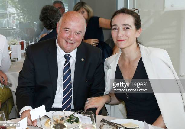 President of French Tennis Federation Bernard Giudicelli and President of France Television Delphine Ernotte attend the 'France Television' Lunch...