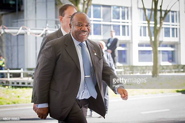 President of Gabon Ali Bongo Ondimba arrives at the 2014 Nuclear Security Summit on March 24 2014 in The Hague Netherlands The Nuclear Security...