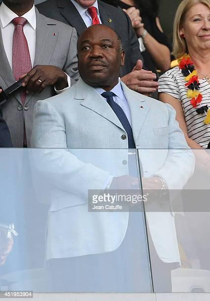 President of Gabon Ali Bongo Ondimba attends the 2014 FIFA World Cup Brazil Semi Final match between Brazil and Germany at Estadio Mineirao on July 8...