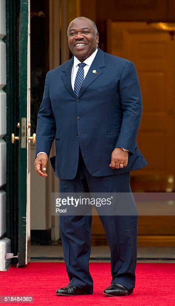President of Gabonese Republic Ali Bongo Ondimba arrives for the working dinner for the heads of delegations at the Nuclear Security Summit on the...