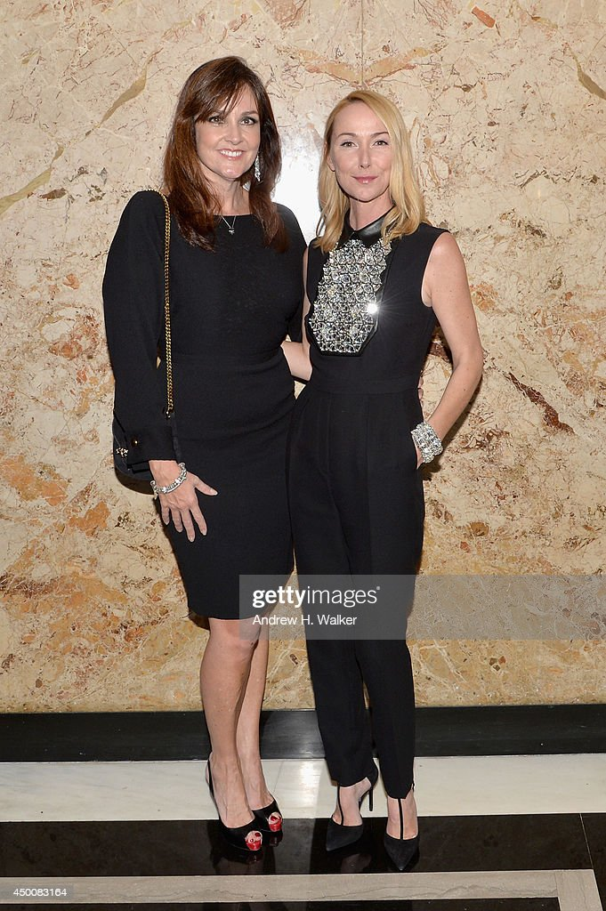 President of Global Prestige, Joanne Crewes and Gucci Creative Director Frida Giannini attend the Gucci beauty launch event hosted by Frida Giannini on June 4, 2014 in New York City.