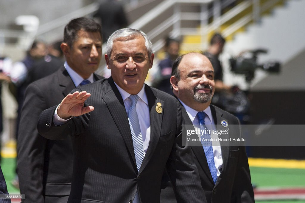 President of Guatemala Otto Perez Molina attends the Inauguration Day of Costa Ricas elected President Luis Guillermo Solis at National Stadium on...