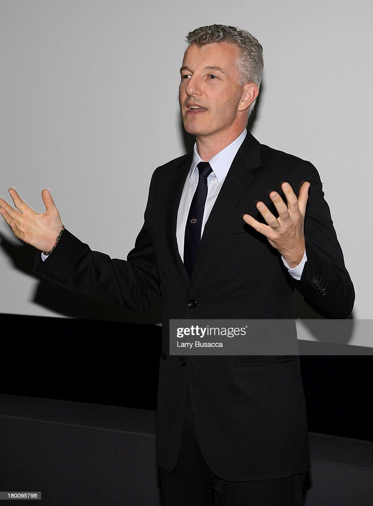 President of Gucci North America Christophe De Pous speaks at the Gucci Hosted Private Screening And Cocktail Party With James Franco To Present 'The Director' during the 2013 Toronto International Film Festival held at Thompson Hotel Rooftop on September 8, 2013 in Toronto, Canada.