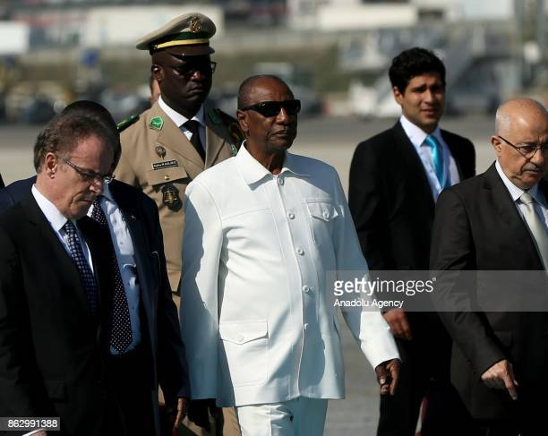 President of Guinea Alpha Conde arrives to attend 9th D8 Organization for Economic Cooperation Summit in Istanbul Turkey on October 19 2017