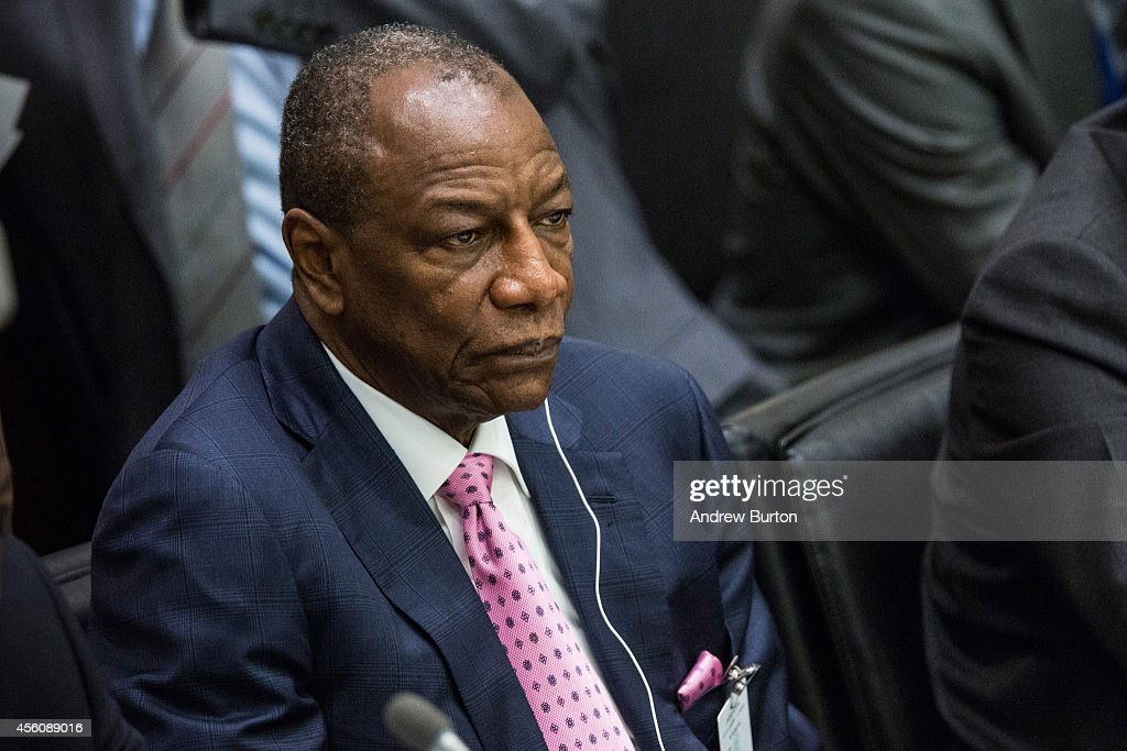 President of Guinea Alpha Conde attends a special high-level meeting regarding the Ebola virus outbreak in west Africa during the 69th United Nations General Assembly on September 25, 2014 in New York City. The annual event brings political leaders from around the globe together to report on issues meet and look for solutions.