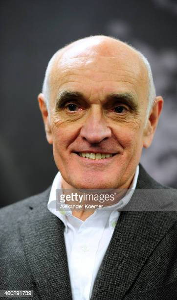President of Hannover 96 Martin Kind is seen after a Press Conference as Korkut was announced as the new head coach of Hannover 96 at HDIArena on...