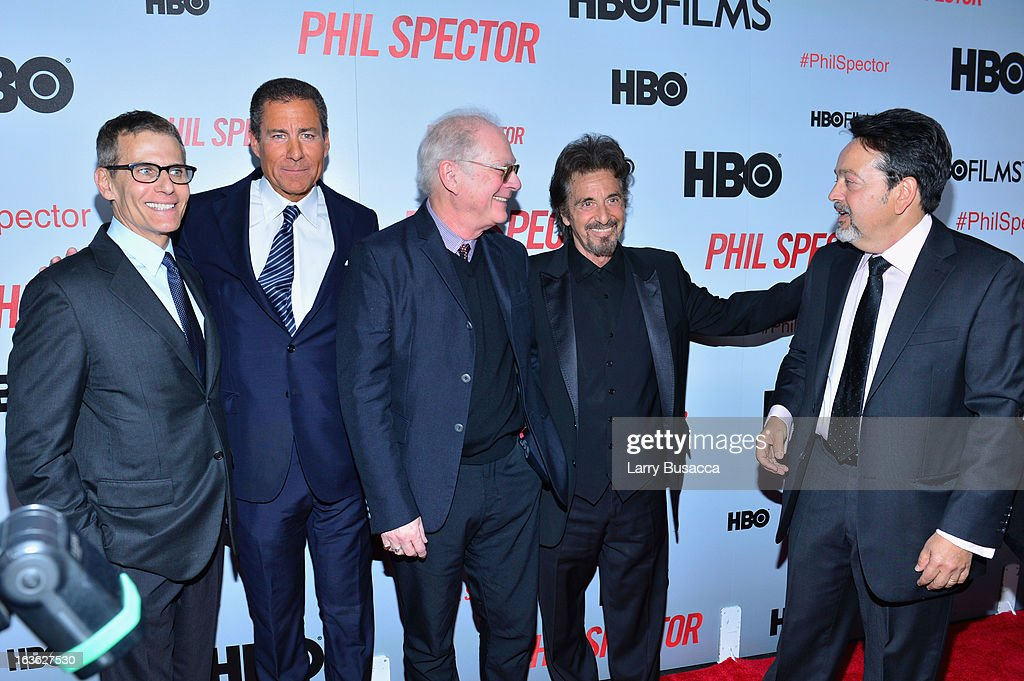 President of HBO programming Michael Lombardo, HBO CEO Richard Plepler, producer Barry Levinson, actor Al Pacino, and HBO Films president Len Amato attend the 'Phil Spector' premiere at the Time Warner Center on March 13, 2013 in New York City.