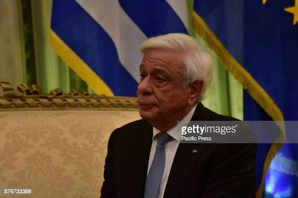 MANSION ATHENS ATTIKI GREECE President of Hellenic Republic Prokopis Pavlopoulos during his meeting with President of the Republic of Poland Andrzej...