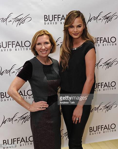 President of Hudson's Bay/Lord Taylor Liz Rodbell and model Chrissy Teigen attend Lord Taylor Flagship Guys' Night Out 2014 on December 11 2014 in...