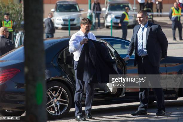 President of Hungary Janos Ader before the meeting of heads of state of the Visegrad Group countries in Szekszard Hungary on 13 October 2017 POLAND...