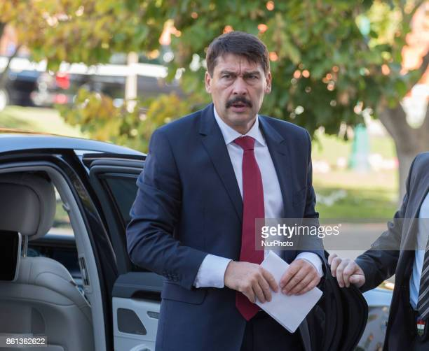 President of Hungary Janos Ader during the meeting of heads of state of the Visegrad Group countries in Szekszard Hungary on 13 October 2017