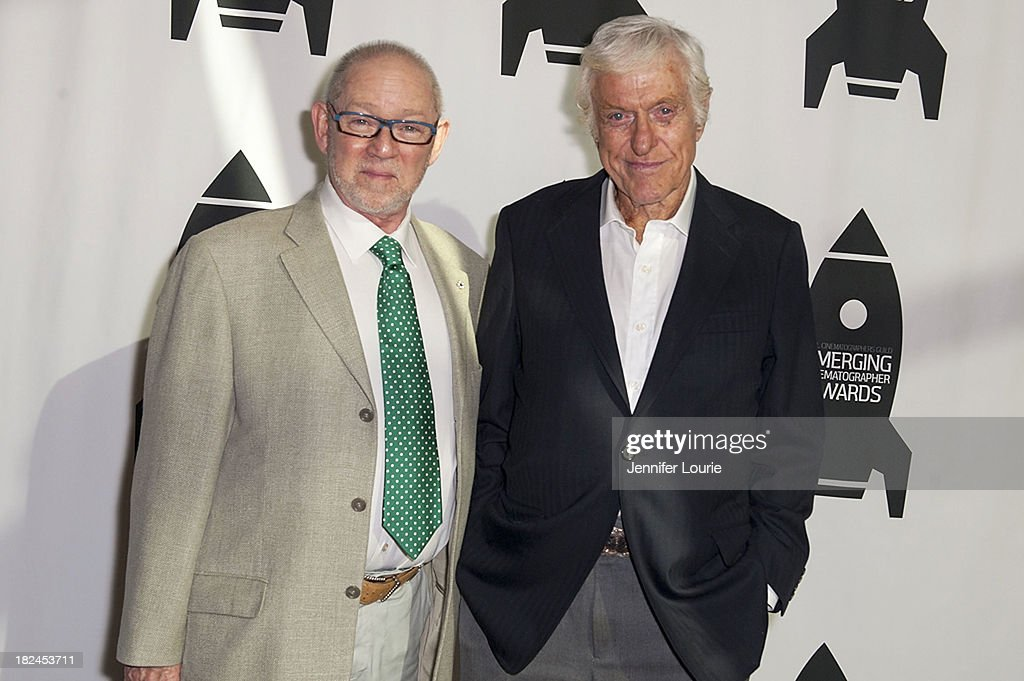 President of ICG Steve Poster and actor Dick Van Dyke attends The International Cinematographers Guild's 17th Annual Emerging Cinematographer Awards at Directors Guild Of America on September 29, 2013 in Los Angeles, California.