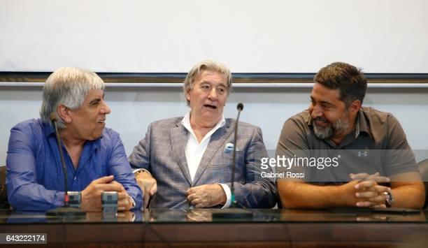 President of Independiente Hugo Moyano President of Regularization Committee of AFA Armando Perez and President of Boca Juniors Daniel Angelici...