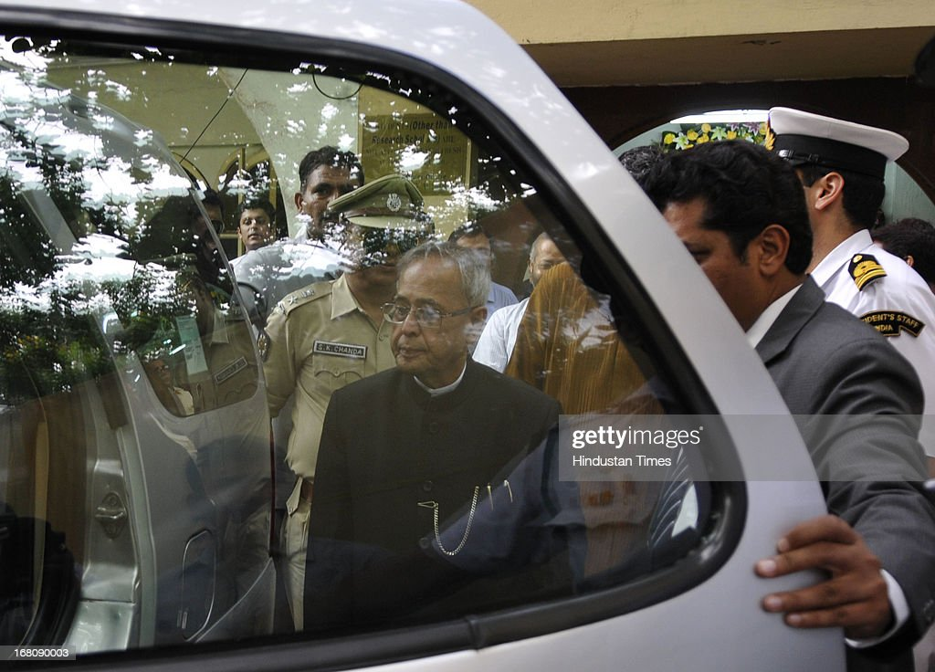 President of India Shri Pranab Mukherjee at the Jadavpur University on May 5, 2013 in Kolkata, India. Mukherjee is on a three-day visit of West Bengal where he will attend the valedictory function of 150th anniversary celebrations of the Calcutta High Court.