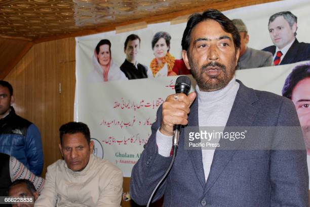 President of Indian National Congress GAMir addressing party workers at Khanabal Anantnag