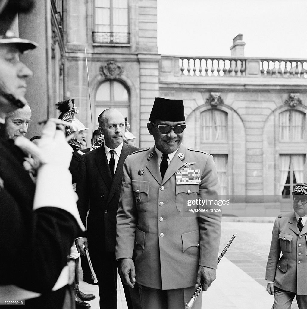 President Of Indonesia Soekarno Meets French President General de Gaulle At the Elysée Palace, in Paris, France, on June 21, 1963.