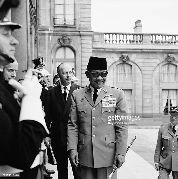 President Of Indonesia Soekarno Meets French President General de Gaulle At the Elysée Palace in Paris France on June 21 1963