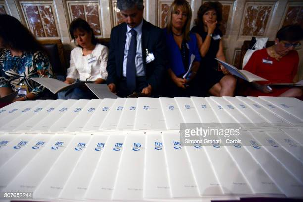 President of INPS presents the Annual Report to the Chamber of Deputies on July 04 2017 in Rome Italy