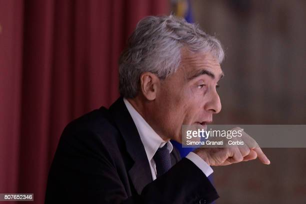 President of INPS Tito Boeri during the Annual Report to the Chamber of Deputies on July 04 2017 in Rome Italy