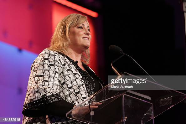 President of Intel Corporation Renee James speaks on stage during LeadOnWatermark's Silicon Valley Conference For Women at Santa Clara Convention...