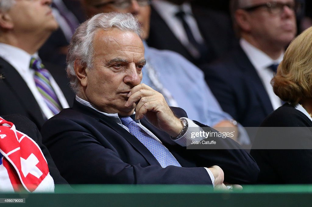 President of International Tennis Federation (ITF) <a gi-track='captionPersonalityLinkClicked' href=/galleries/search?phrase=Francesco+Ricci+Bitti&family=editorial&specificpeople=575852 ng-click='$event.stopPropagation()'>Francesco Ricci Bitti</a> attends day one of the Davis Cup tennis final between France and Switzerland at the Grand Stade Pierre Mauroy on November 21, 2014 in Lille, France.