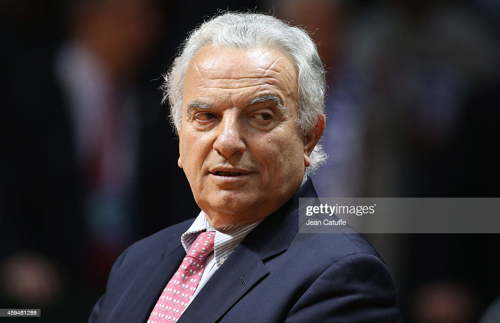 President of International Tennis Federation <a gi-track='captionPersonalityLinkClicked' href=/galleries/search?phrase=Francesco+Ricci+Bitti&family=editorial&specificpeople=575852 ng-click='$event.stopPropagation()'>Francesco Ricci Bitti</a> looks on during day three of the Davis Cup tennis final between France and Switzerland at the Grand Stade Pierre Mauroy on November 23, 2014 in Lille, France.