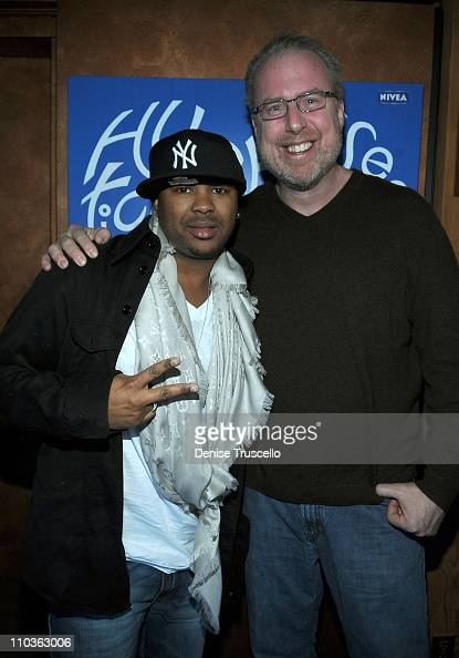 President of Island Records Steve Bartels and The Dream AKA Terius Nash at the Island Def House of Hype Hospitality Suite on January 16 2009 in Park...