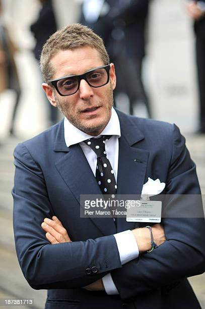 President of Italian Independent Group Lapo Elkann attends 'Made In Italy Senza Italy' convention at Piazza Affari on November 8 2013 in Milan Italy...