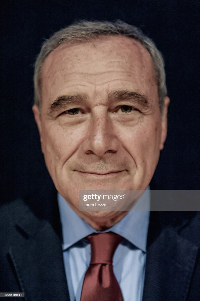 President of Italian Senate and former National anti-mafia Prosecutor Pietro Grasso poses for a photo on March 29, 2014 in Livorno, Italy. Pietro Grasso had just attended a meeting concerning laws and the mafia.