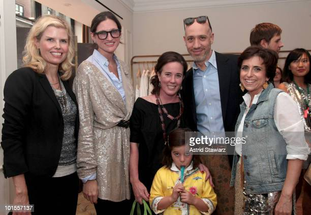 President of JCrew Tracy Gardner Creative Director of JCrew Jenna Lyons Fashion designer Kate Spade daughter Frances Spade celebrity stylist Robert...