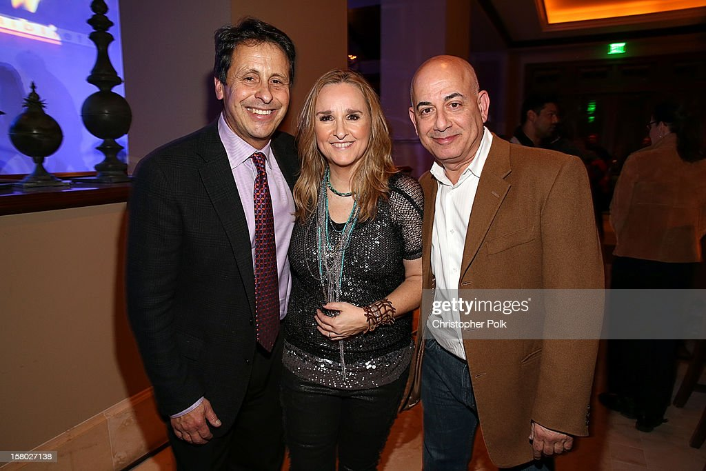 President of Juma Entertainment Bob Horowitz, entertainer Melissa Etheridge and Executive Vice President, Specials, Music and Live Events, CBS Entertainment Jack Sussman attend the Deer Valley Celebrity Skifest at the Montage Deer Valley on December 8, 2012 in Park City, Utah.