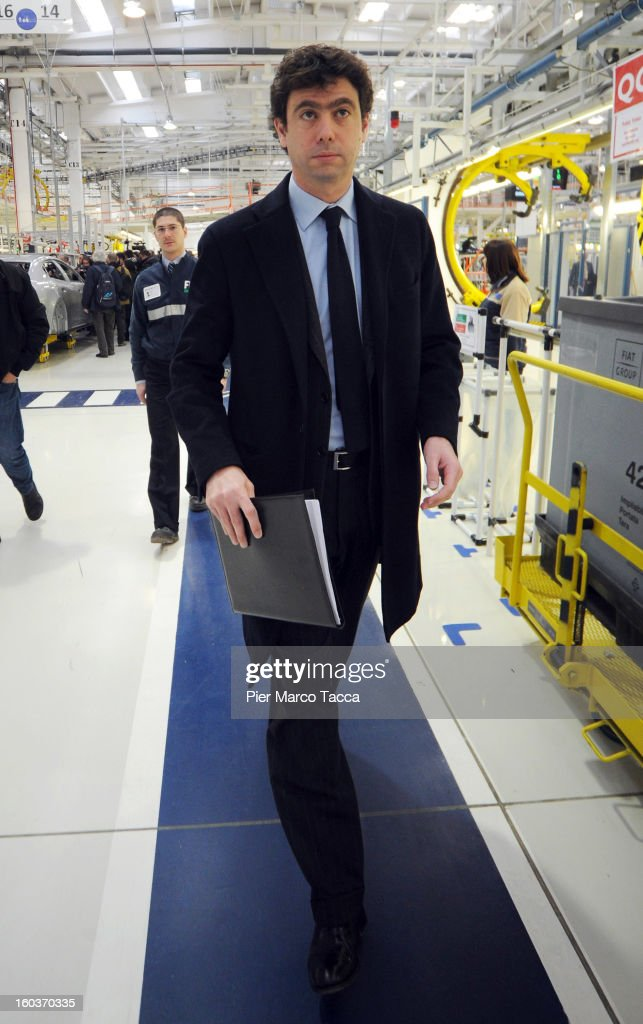 President of Juventus FC <a gi-track='captionPersonalityLinkClicked' href=/galleries/search?phrase=Andrea+Agnelli&family=editorial&specificpeople=3105759 ng-click='$event.stopPropagation()'>Andrea Agnelli</a> attends the unveiling of the new Maserati plant in Grugliasco, which has been dedicated to Gianni Agnelli on January 30, 2013 in Turin, Italy. The new plant near the company's headquarters in Turin will produce Maserati's new model of luxury saloon cars, the Quattroporte.
