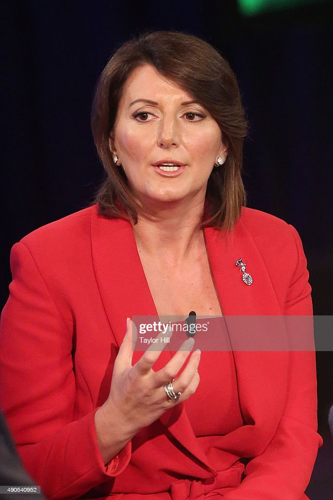 President of Kosovo <a gi-track='captionPersonalityLinkClicked' href=/galleries/search?phrase=Atifete+Jahjaga&family=editorial&specificpeople=7799061 ng-click='$event.stopPropagation()'>Atifete Jahjaga</a> speaks during the 2015 Clinton Global Initiative Annual Meeting at Sheraton Times Square on September 29, 2015 in New York City.