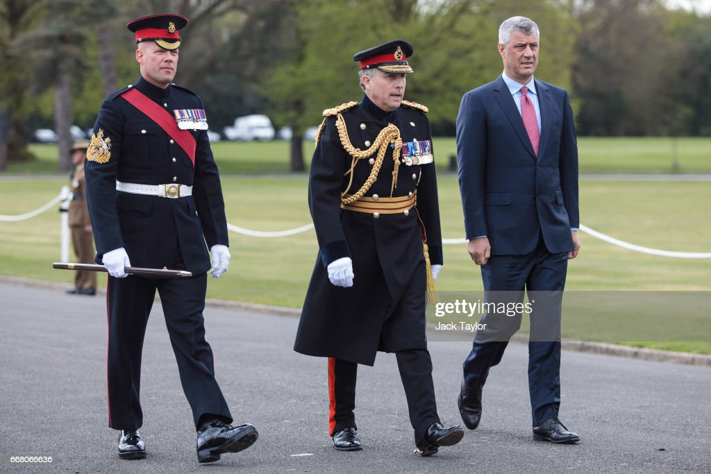 Theresa May Attends The Sovereign's Parade At the Royal Military Academy