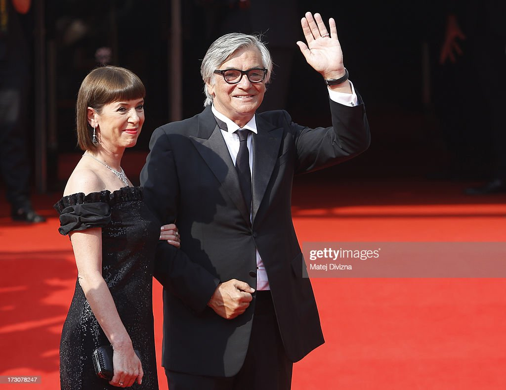 President of KVIFF Jiri Bartoska with his wife arrive for the closing ceremony of the 48th Karlovy Vary International Film Festival (KVIFF) on July 06, 2013 in Karlovy Vary, Czech Republic.
