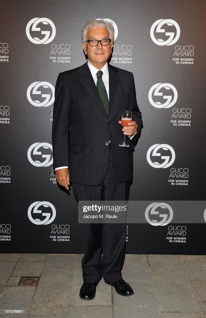 President of la Biennale di Venezia Paolo Baratta attends the Gucci Award for Women in Cinema at The 69th Venice International Film Festival at Hotel Cipriani on August 31, 2012 in Venice, Italy.