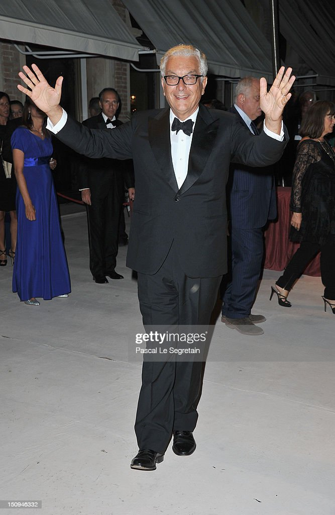 President of la Biennale di Venezia Paolo Baratta attends the Opening Ceremony Dinner during the 69th Venice International Film Festival at Palazzo del Cinema on August 29, 2012 in Venice, Italy.