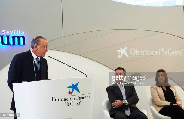 President of 'La Caixa' Isidro Faine attends the Caixaforum Seville Inauguration on March 3 2017 in Seville Spain
