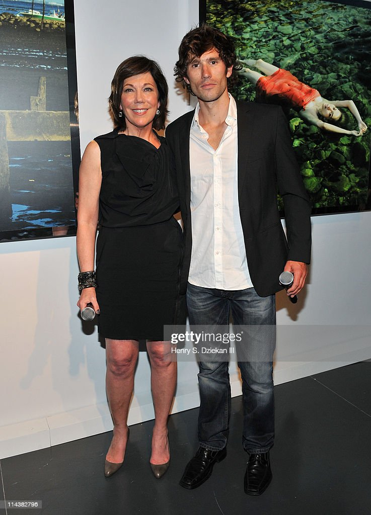 President of La Mer Maureen Case and Guillaume Nery attend World Ocean Day 2011 celebrated by La Mer and Oceana at Affirmation Arts on May 18, 2011 in New York City.