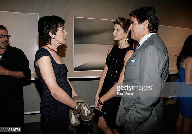 President of La Mer Maureen Case model Stephanie SeymourBrant and publisher Peter Brant attend La Mer Celebrates 'Liquid Light' By Fabien Baron at...