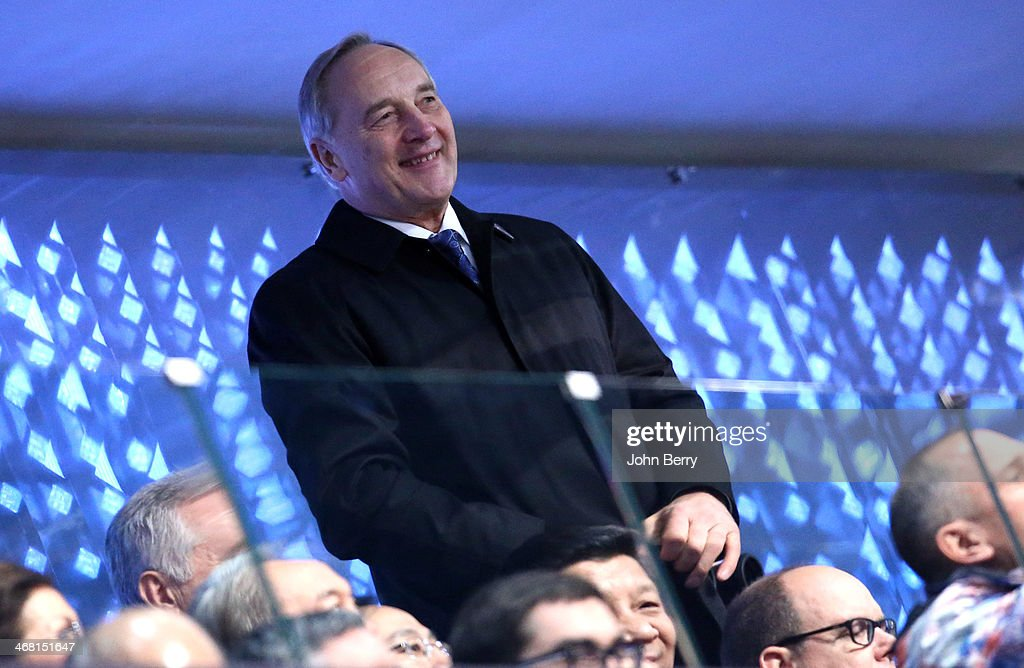 President of Latvia Andris Berzins cheers for the competitors of his country during the Opening Ceremony of the 2014 Winter Olympic Games at the Fisht Olympic Stadium on February 7, 2014 in Sochi, Russia.