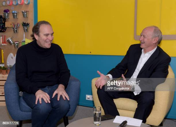 President of leading world cosmetics group L'Oreal JeanPaul Agon and French telecom Iliad Group founder and VicePresident Xavier Niel founder of...
