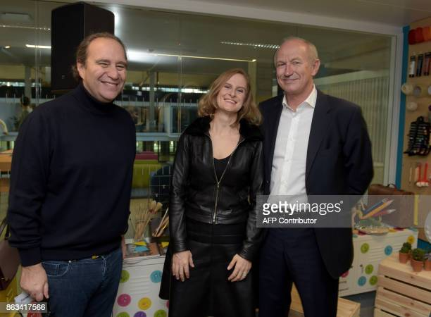 President of leading world cosmetics group L'Oreal JeanPaul Agon French telecom Iliad Group founder and VicePresident Xavier Niel founder of Station...