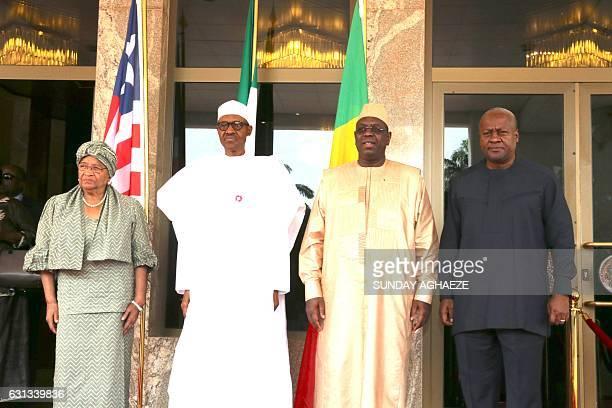 President of Liberia Ellen Johnson Sirleaf President of Nigeria Muhammadu Buhari President of Senegal Macky Sall and former President of Ghana John...