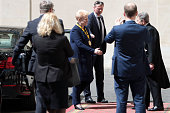 President of Lithuania Dalia Grybauskaite arrives at the Apostolic Palace for Pope Francis' International Charlemagne Prize of Aachen awarding...