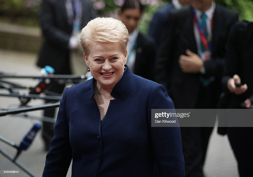 President of Lithuania Dalia Grybauskaite attends a European Council Meeting at the Council of the European Union on June 28, 2016 in Brussels, Belgium. British Prime Minister David Cameron will hold talks with other EU leaders in what will likely be his final scheduled meeting with the full European Council before he stands down as Prime Minister. The meetings come at a time of economic and political uncertainty following the referendum result last week which saw the UK vote to leave the European Union.