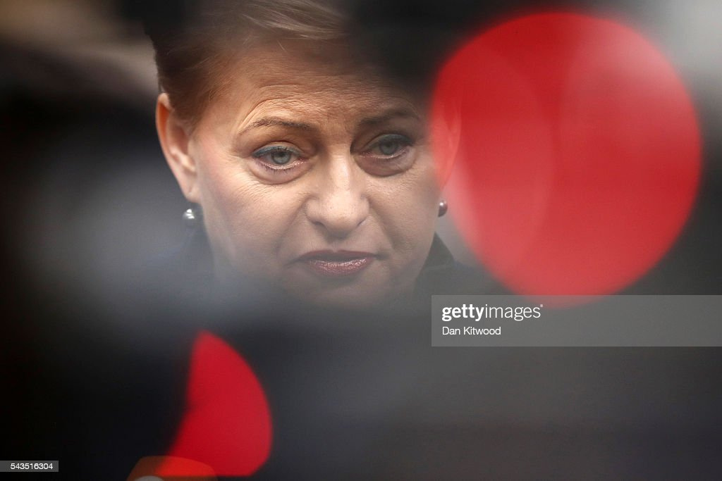 President of Lithuania <a gi-track='captionPersonalityLinkClicked' href=/galleries/search?phrase=Dalia+Grybauskaite&family=editorial&specificpeople=654850 ng-click='$event.stopPropagation()'>Dalia Grybauskaite</a> attends a second day of European Council meetings at the Council of the European Union building on June 29, 2016 in Brussels, Belgium. British Prime Minister David Cameron held talks with other EU leaders yesterday during his final scheduled meeting with the full European Council before standing down as Prime Minister. The meetings come at a time of economic and political uncertainty following the referendum result last week which saw the UK vote to leave the European Union.