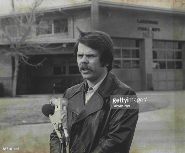 FEB 8 1977 FEB 11 1977 FEB 12 1977 President of Local 1309 of the International Association of Fire Fighters made his appear in a press conference...